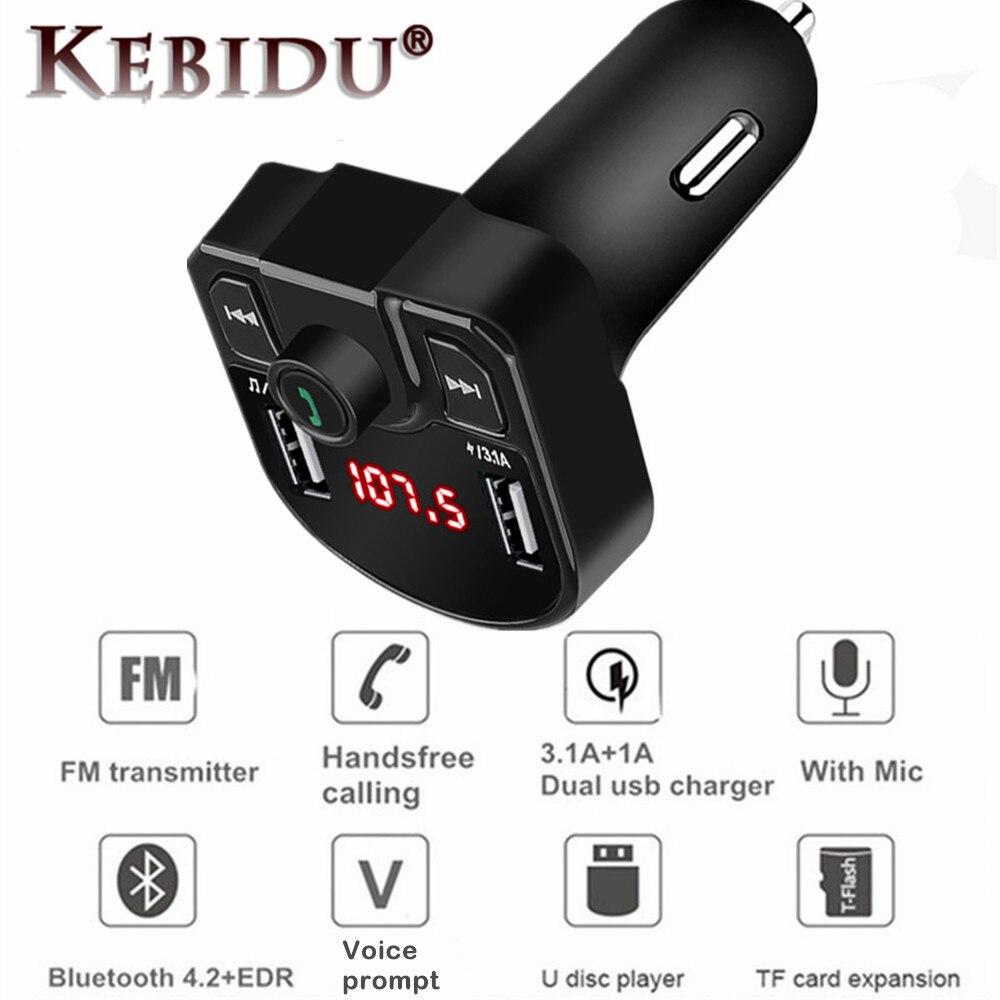 QC2.0 3.1A быстрое двойное USB зарядное устройство Bluetooth 4,2 MP3-плеер громкой связи автомобильный комплект fm-передатчик Поддержка TF карта u-диск адаптер питания