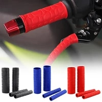 2 pairs universal motorcycle handlebar grip brake clutches lever cover protector soft rubber bar brake handle silicone sleeve