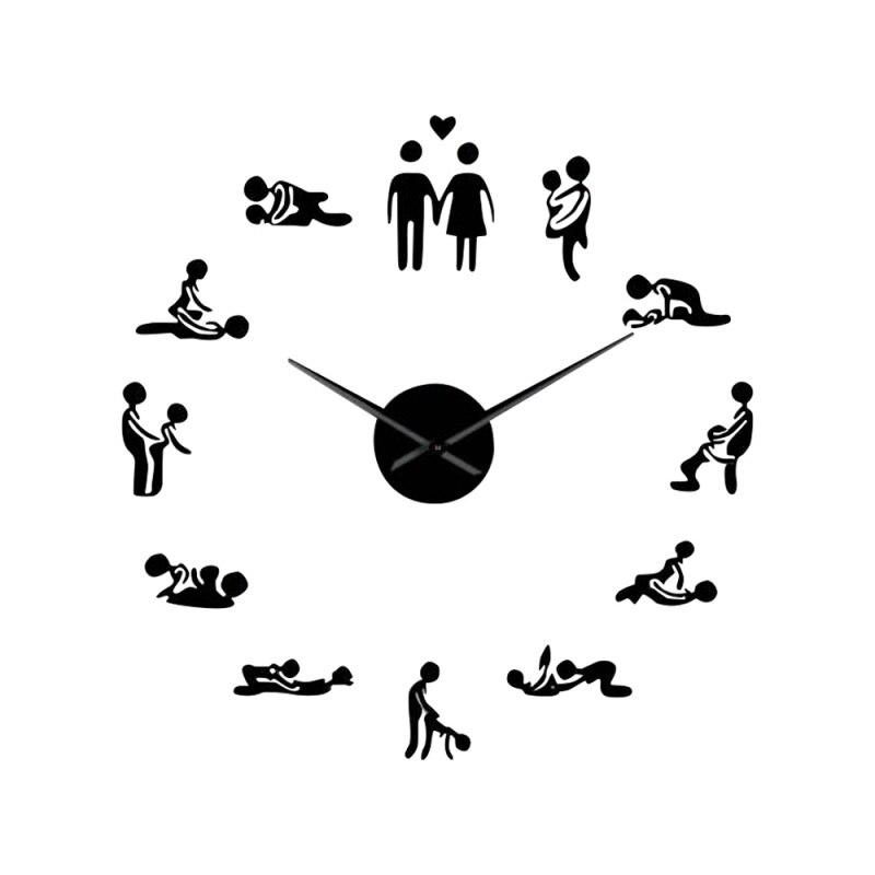 V DIY Einfache Dekorative Uhr Home Decor Wand Aufkleber Uhr Acryl Spiegel Wanduhren Drei-dimensional