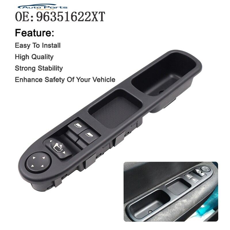 Novo interruptor da janela elétrica dianteira do motorista nearside para peugeot 307 2000-2005 96351622xt