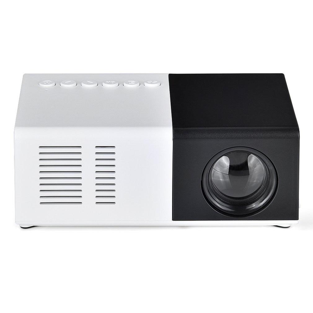 Mini proyector J9 portátil 1080P soporte 1080P AV USB SD tarjeta USB Mini proyector casero portátil Beamer de bolsillo