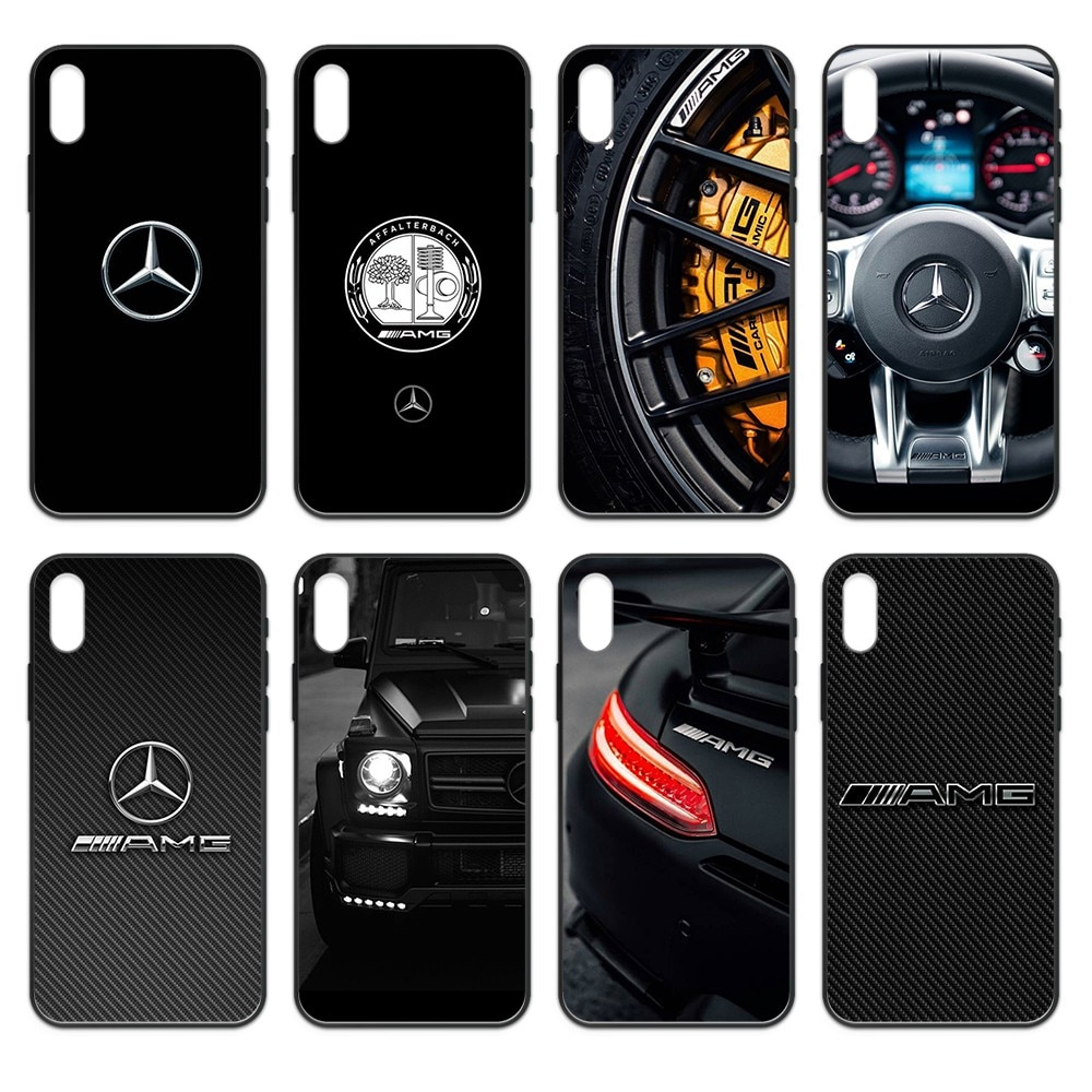 Mercedes Benz AMG sport Car pretty Etui funda black Phone case For iphone 4 4s 5 5S SE 5C 6 6S 7 8 plus X XS XR 11 PRO MAX 2020