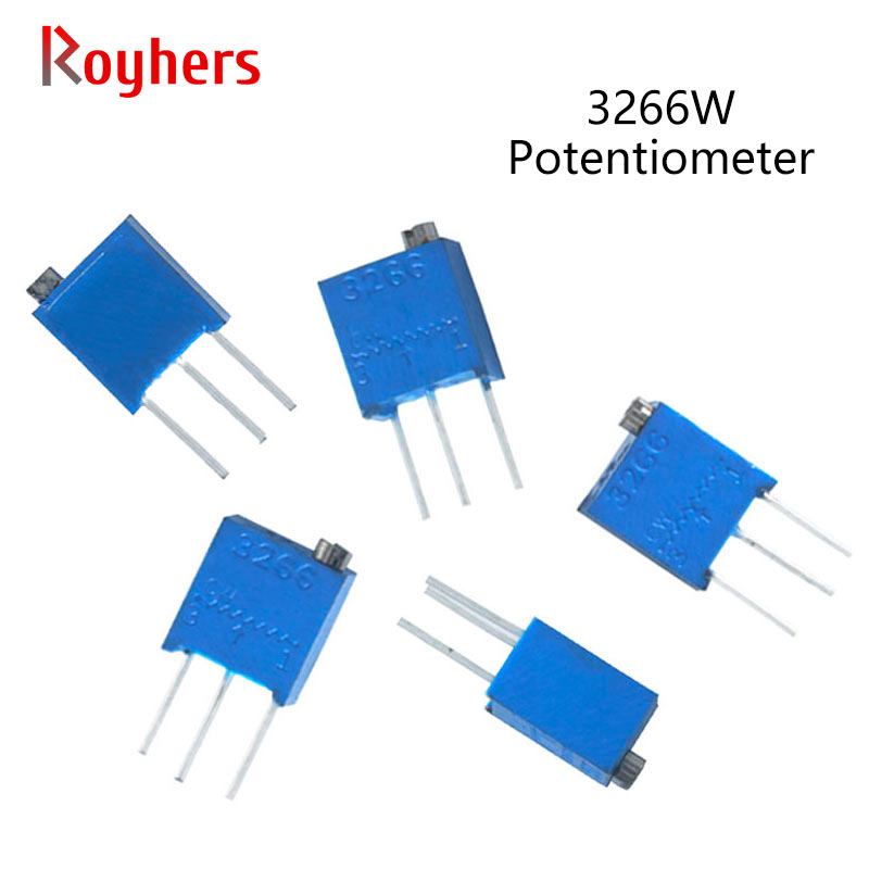 10Pcs 3266W Trimpot Trimmer Potentiometer 100R 500R 1K 2K 5K 10K 20K 50K 100K 200K 500K 1M 3366W-1-104LF 502LF 101LF 501LF 3266