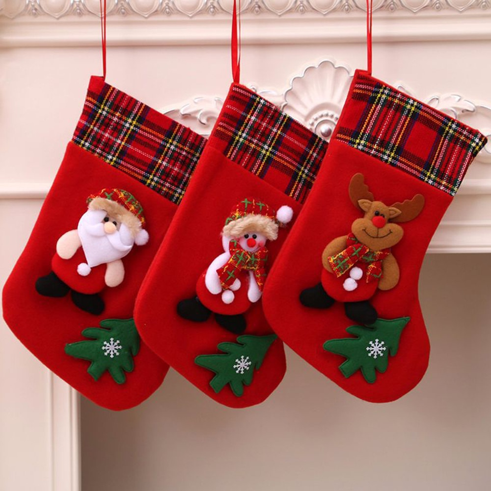 Decoraciones de Navidad para decoración del hogar, bolsa de árbol de Navidad,...