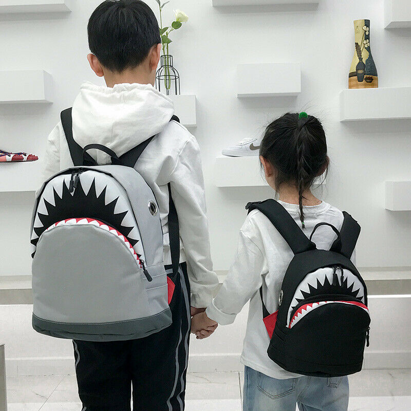 Mochila Cool Animal Shark para niños, mochila de viaje para senderismo, mochila para libros, regalo