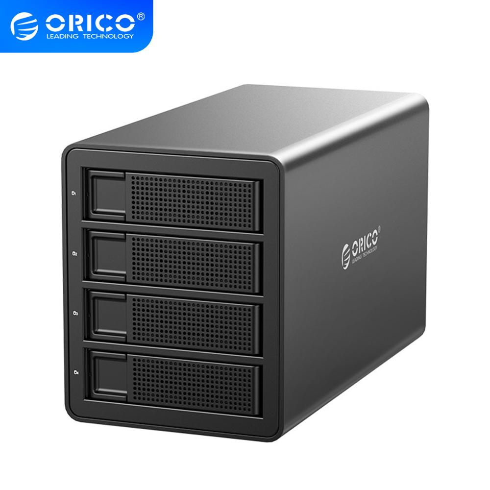 ORICO 35 Series 4 Bay HDD Docking Station 64TB With Dual Chip 150W Built-in Power Hard Drive Case For 2.5 3.5 Inch Hard Drives