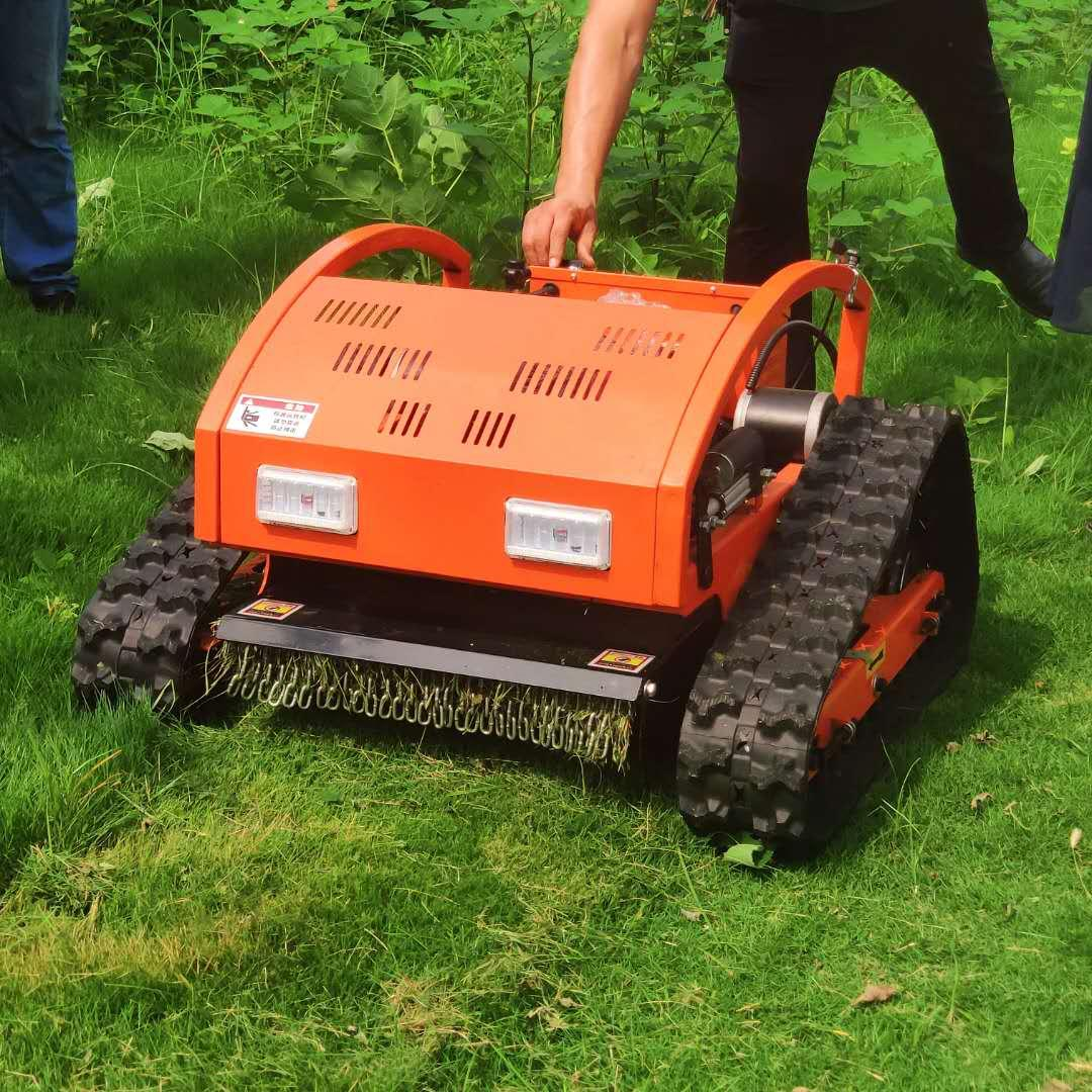 Chinese Automatic RC Lawn Mower Robot Gasoline Grass Cutting Machine For Sale Agricultural