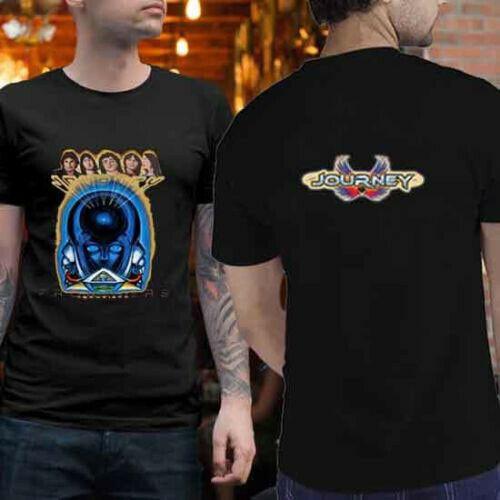 1983 ジャーニーフロンティアロックバンドコンサートtシャツ 2 辺tシャツ新メンズtシャツ