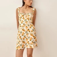 spring summer sexy short floral dress women 2021 new sleeveless v neck vintage party dresses for women casual vestidos de mujer