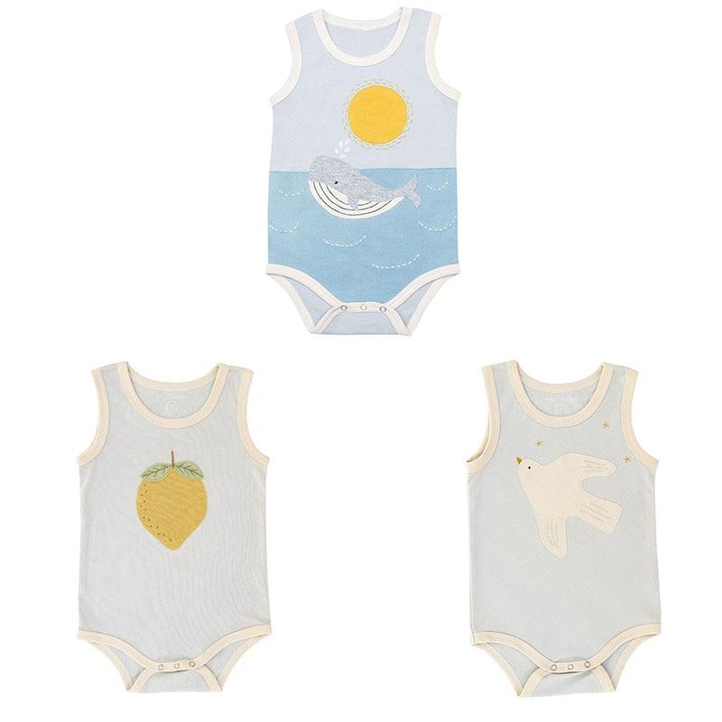 EnkeliBB Super Cute Baby Sleeveless Romper Toddler Girl and Boy Casual Style Oneise PlaySuit Little