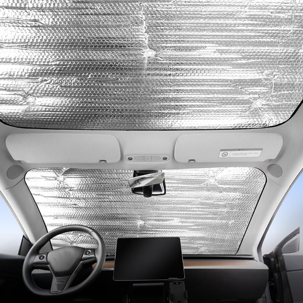 Pára-sol do telhado de vidro do carro clarabóia cego sombreamento net para tesla modelo 3 pára-brisa sombra da janela traseira dianteira para tesla parts