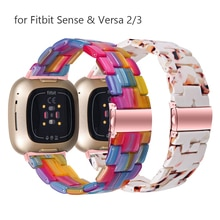 Colorful Resin Watch Strap for Fitbit Sense Band Replacement Bracelet for Versa 2/3/Lite Bands Wrist