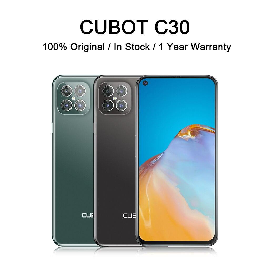 Перейти на Алиэкспресс и купить Чехол для CUBOT C30 смартфон с NFC 4G глобальная версия мобильных телефонов 48MP сзади Quad AI Камера 32MP монопод для селфи для смартфона android 10 256 ГБ