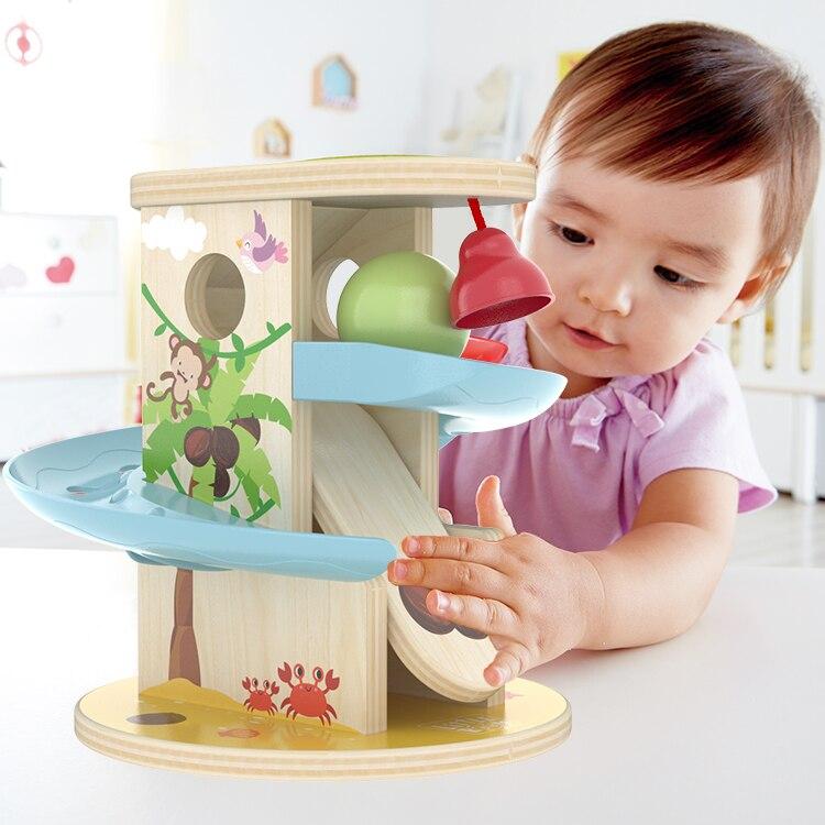 Детская деревянная игрушка для скручивания шариков, рождественский подарок, игрушка для слайдов, Детские тренировочные игрушки для концен...