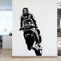 Autocollant mural moto course espagne 93  etiquette murale  salon  MARQUE MAR C moto homme Cave  autocollant mural  salle de jeux chambre a coucher  vinyle  decoration de la maison