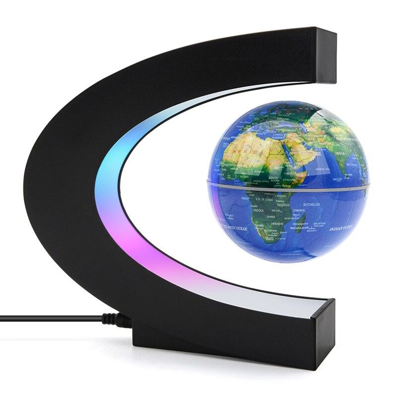 Globo de decoración para el hogar y la oficina increíble, lámpara 3d con levitación magnética globus dla dzireci, globo flotante pamantesc iluminat