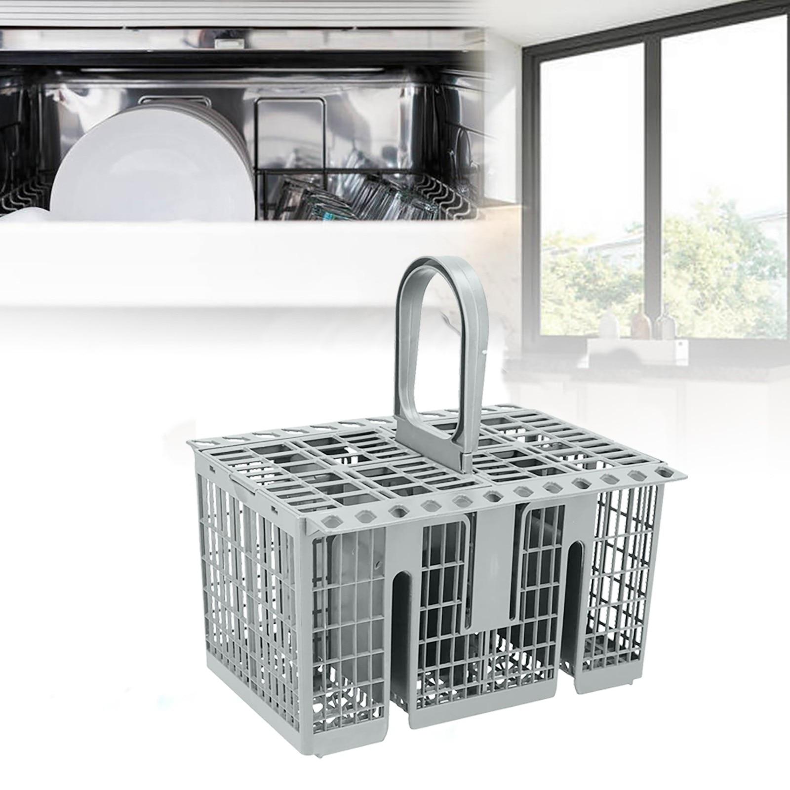 Cesta de cubiertos ecológica para lavavajillas, caja de almacenamiento para vajilla, tenedor,...