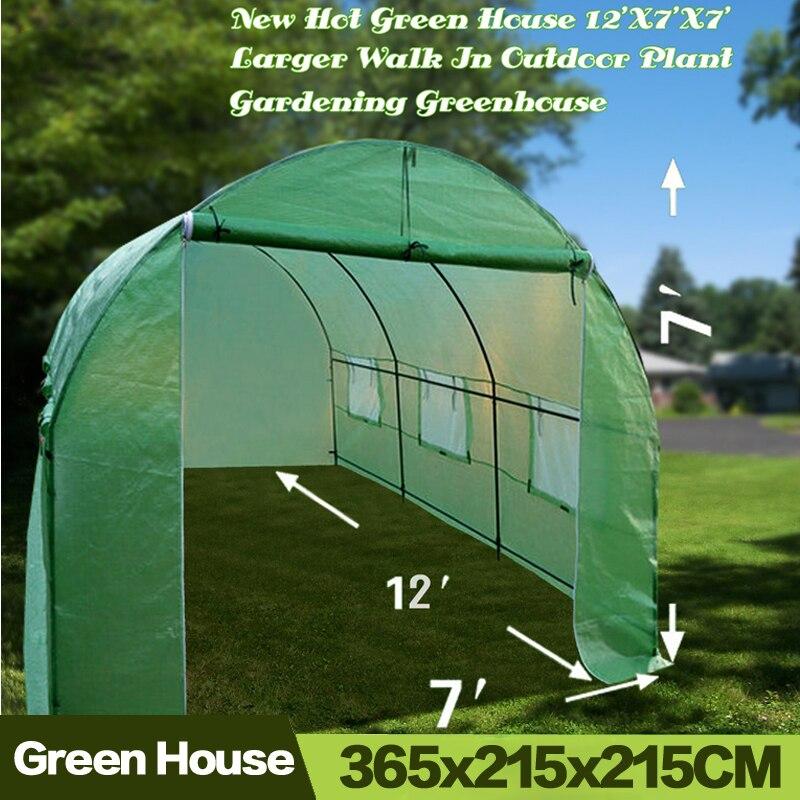 AULAYSED جديد حار البيت الأخضر 365x215x215 سنتيمتر أكبر المشي في النباتات في الهواء الطلق البستنة دائم الدفيئة الحديد الوقوف غطاء
