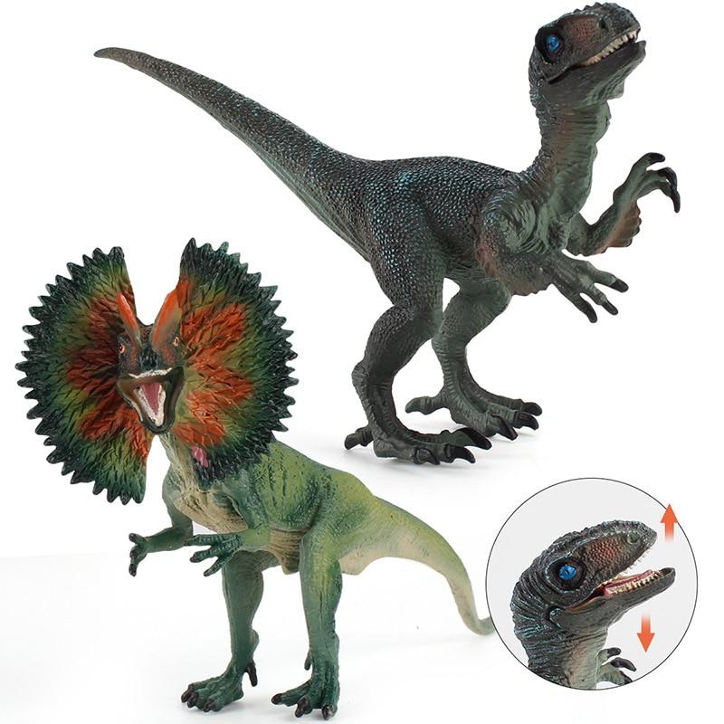 Large Single Jurassic Sale Dinosaurs Park Velociraptor Dilophosaurus World Figures Dinosaur Toys Animals Model Toys For Children