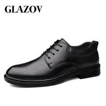 Vitriov hommes Oxfords chaussures en cuir véritable robe chaussure mâle mariage chaussure sociale chaussure homme Fluff bureau formel chaussure grande taille