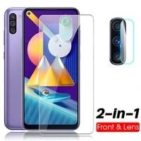 Vetro temperato 2in1 per Samsung Galaxy m11 M11 m 11 vetro protettivo per samsung a52 a72 a11 a 11 protezione dello schermo vetro dellobiettivo