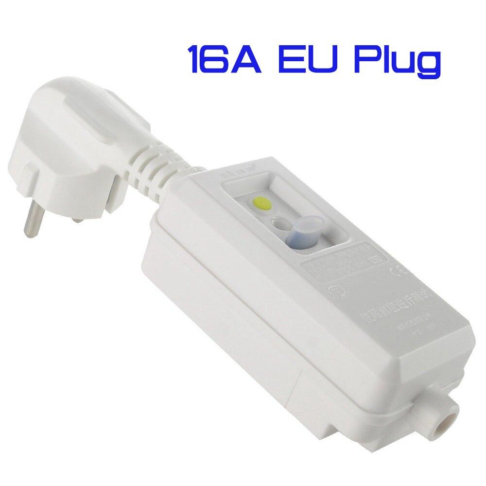 16А 220 в 240 В ЕС вилка GFCI безопасность УЗО защита от утечки розетка адаптер домашний выключатель вырез мощность переключатель