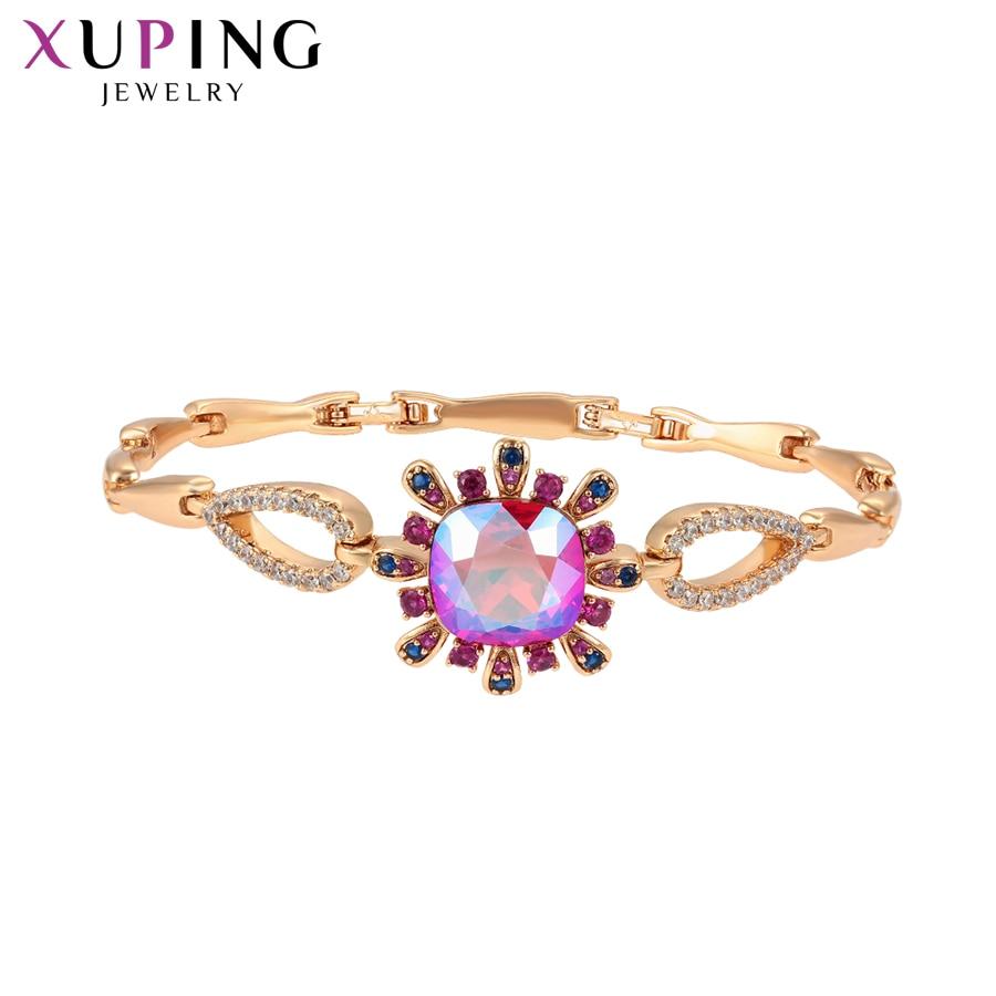 Xuping design popular pulseiras para mulheres cristais de luxo jóias encantos estilos requintado festa de casamento presente S188.5-70032