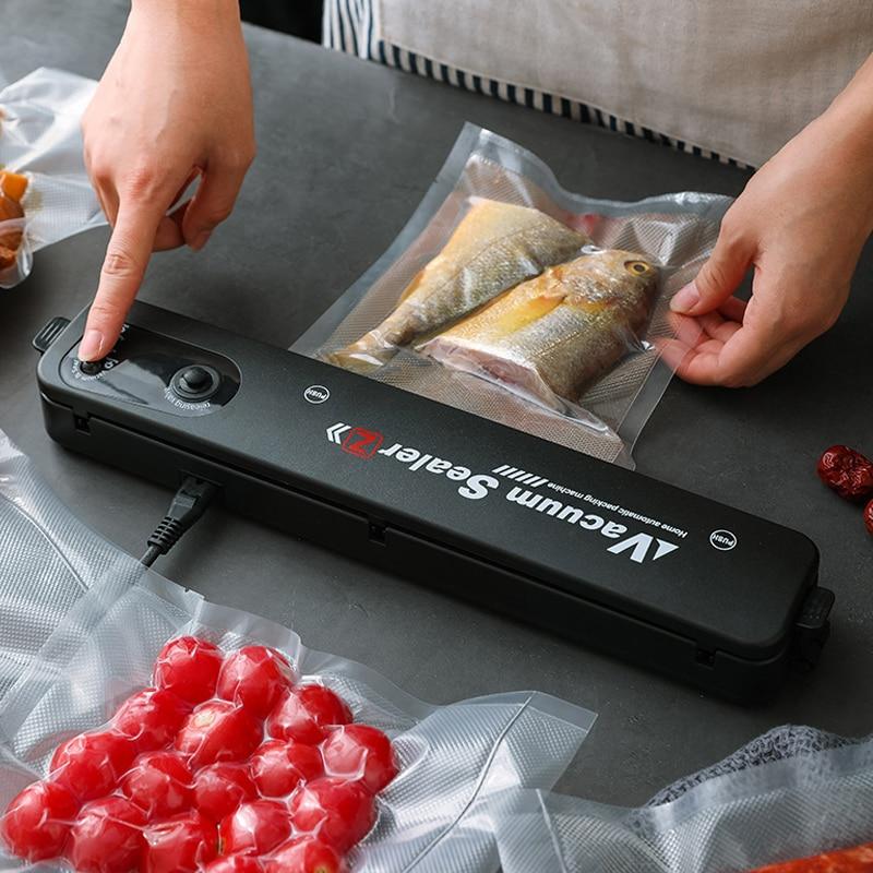 Household Kitchen Vacuum Sealer Packaging Machine with 10pcs Vacuum bags Household Sealer Food Vacuum Sealer Production CF38