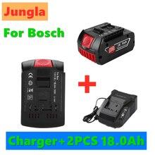 18V 18000mAh recargable para Bosch 18V batería de respaldo 18,0ah recambio portátil BAT609 luz indicadora + cargador de batería 3A
