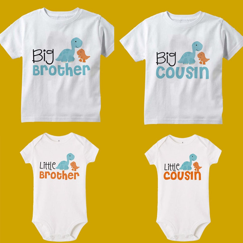 Big Brother/cousin Little Brother/sousin Shirts Dinosaur T-shirts Baby Romper Children Family Look T
