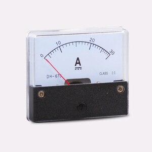 AC 0-30A 1A 2A 3A 5A 10A 20A 50A Analog Ammeter Panel AMP Current Meter DH-670 Gauge