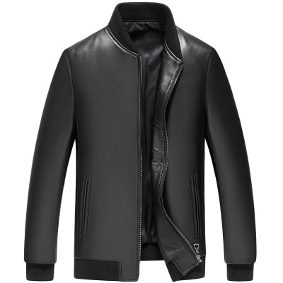 MESHARE Men New Genuine Real Sheep Leather Jacket H85