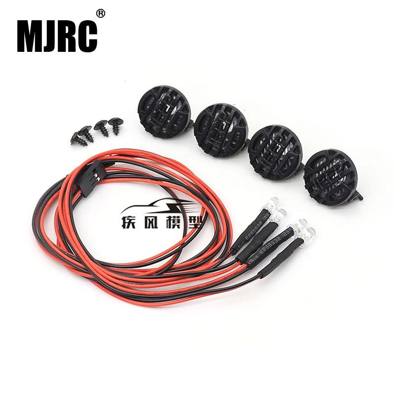 El MJRC de RC coche 4 LED redonda sombra para 110 RC rastreado Axial SCX10 90046 Traxxas TRX4 Tamiya CC01 D90 TF2 MST HPI 90053 90028 RR10