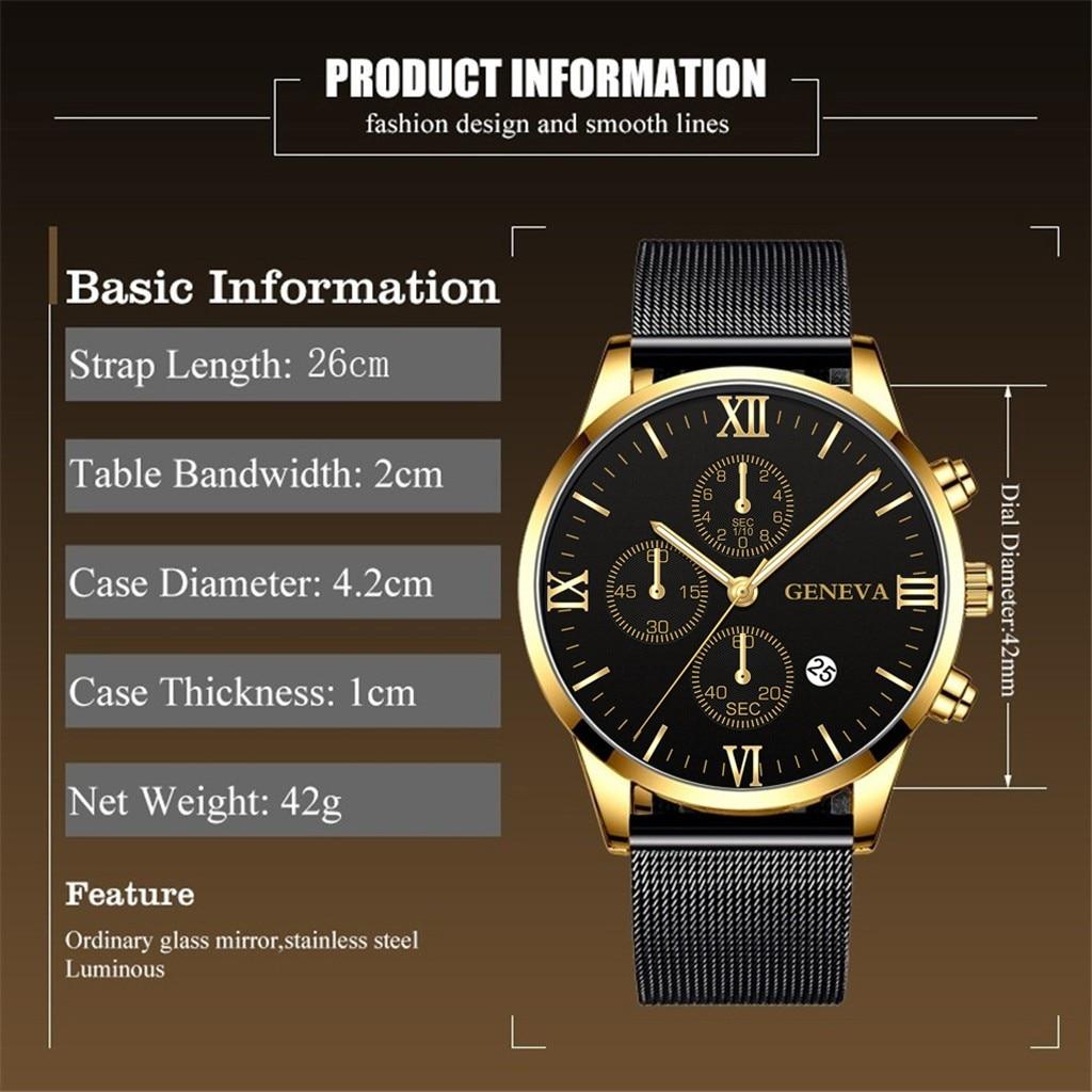 Relógio de pulso analógico de quartzo militar relógio de pulso à prova dwaterproof água relogio masculino novo ceneva luxo aço inoxidável