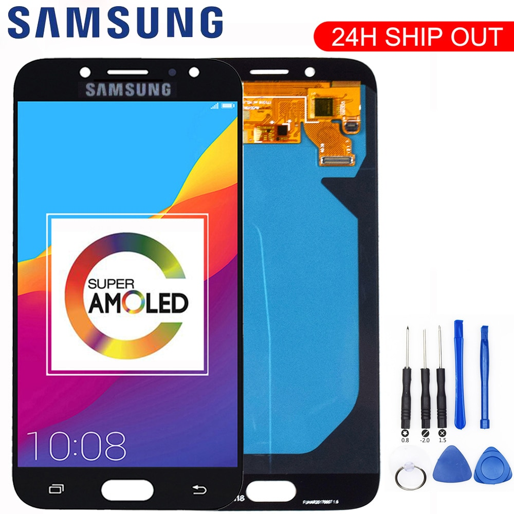 شاشة AMOLED الأصلية, شاشة AMOLED الأصلية مناسبة لأجهزة SAMSUNG Galaxy J7 Pro شاشة LCD باللمس J730 J730F لأجهزة SAMSUNG J7 Pro قطع غيار شاشات LCD