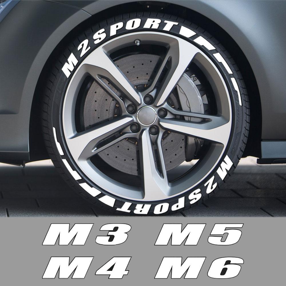 3D de cartas de rueda de neumático de coche pegatinas para BMW M1 homenaje 40i M2 CS M3 E92 M4 M5 M6 Z1 Z3 Z4 E89 E85 Z8 deporte accesorios del coche