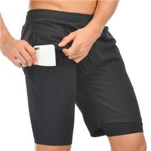 2020 Shorts de course hommes 2 en 1 Double pont séchage rapide Shorts de Sport Fitness Jogging Shorts dentraînement hommes Sport pantalons courts