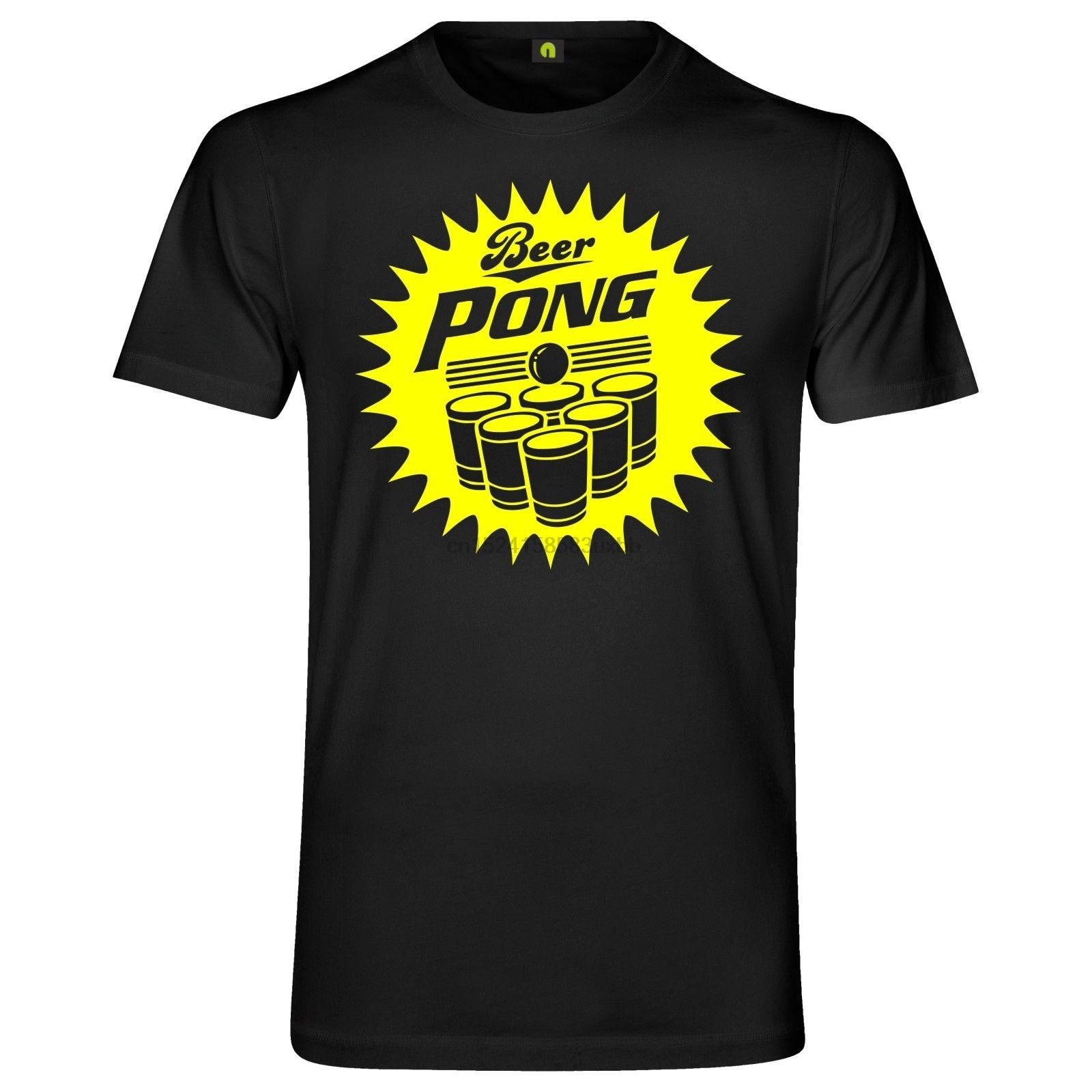 2020 Summer Cotton Tee Shirt Bier Pong T-Shirt Bierpong Beer Party Alkohol Saufen Spiel Becher Fashion T-shirt