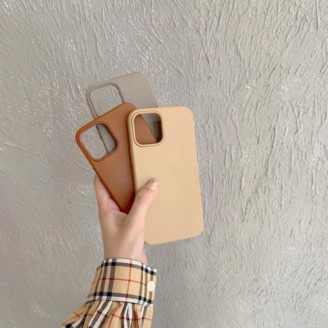 Caixa macia em branco marrom fantasia todos os modelos estojo para iphone 12 11pro max xr xs max x 8 7 cinza capa traseira para 11 11pro