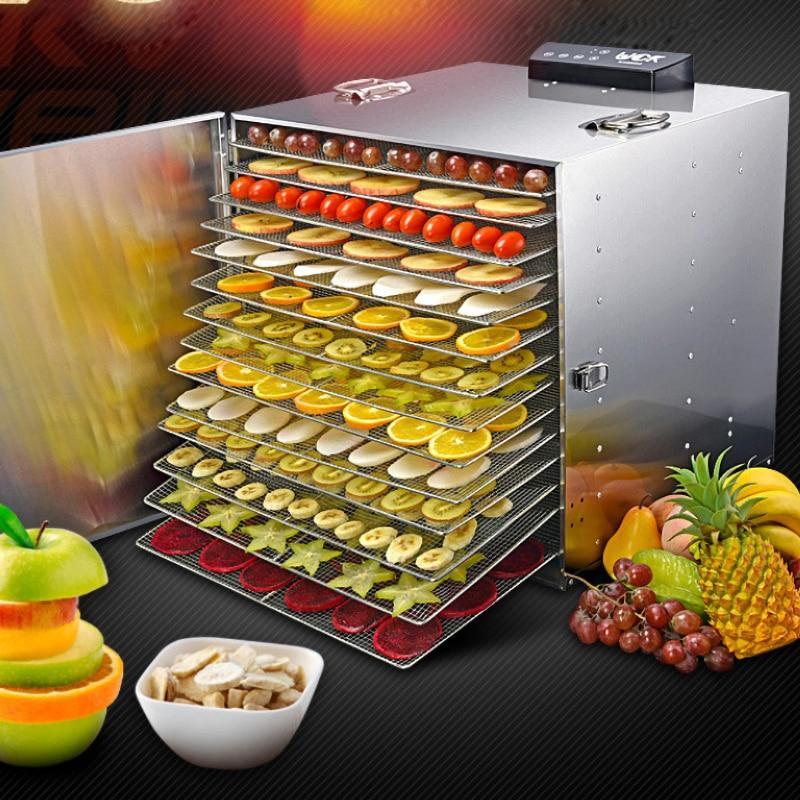 الغذاء الفاكهة مجفف الفولاذ المقاوم للصدأ الجفاف 15 طابق سعة كبيرة ذكي كتم الغذاء الصف توقيت التحكم في درجة الحرارة