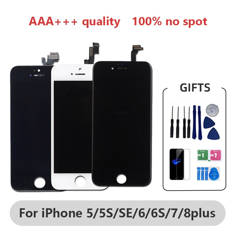 AAA + + OLED آيفون X XS Xs ماكس شاشة LCD آيفون 6/6s/7/8/8plus شاشة LCD استبدال العرض مع تجميع تعمل باللمس ثلاثية الأبعاد
