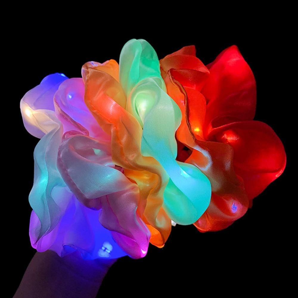 Qızlar LED işıq saçalı saç bandı, quyruq tutucu, elastik saç - Geyim aksesuarları - Fotoqrafiya 4