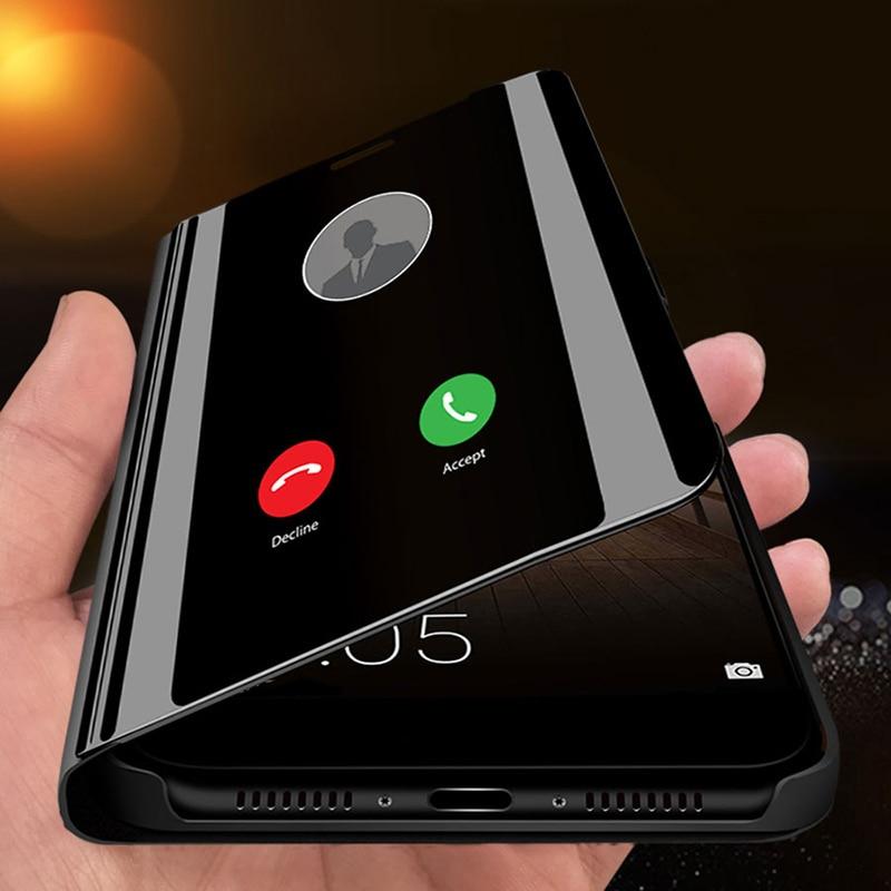 Зеркальный умный флип чехол для Huawei Mate 40 30 20 P40 P30 P20 Pro Lite Plus 20X Honor 20I 20 Pro 9X 8X Y6 Y7 Y9 2018 2019 Бамперы      АлиЭкспресс
