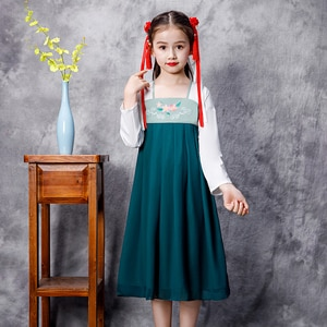 H2526 Children Cosplay Costumes Student Performance Clothes Girls Hanfu Halloween Chinese Tang Dynasty Traditional Kids Dress