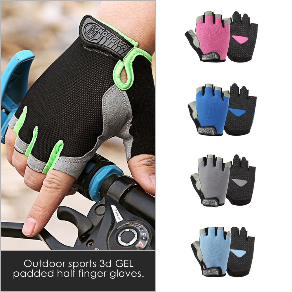 Half Finger MTB Cycling Riding Gloves Mountain Road Bike Bicycle Gloves Anti-slip Anti-sweat Breathable Sports Fitness Gym Golve breathable cycling gloves road bike gloves men sports half finger anti slip bicycle mtb road bike gloves