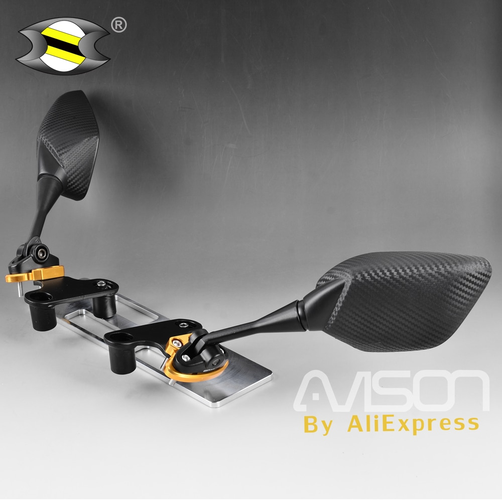 Para xmax X-MAX 250 300 suporte de espelho da motocicleta modificado frente traseira espelhos retrovisores laterais adaptador fixo cnc