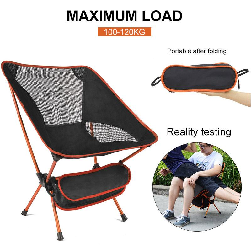Portable Chair Ultralight Travel Camping Outdoor Folding Chair Beach Hiking BBQ Picnic Seat Fishing Tools Garden Home Furniture