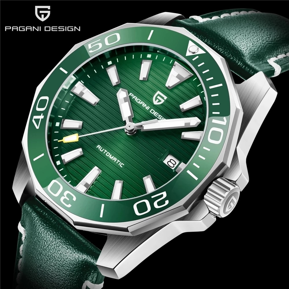 PAGANI DESIGN Men's Mechanical Watch Sapphire Glass Waterproof Stainless Steel Men's Automatic Mechanical Watch Mekaniska Klocko