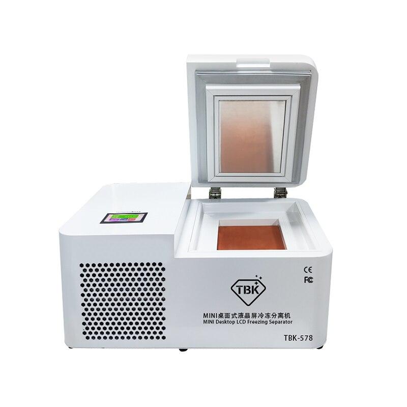 TBK-578 mini máquina do congelador do desktop-separador do tela táctil do cuverd do lcd 185c para a restauração do telefone da borda de samsung