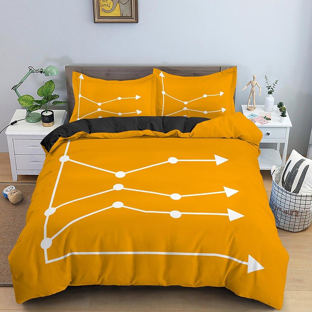 جرافيك تصميم طقم سرير الملك الملكة حاف مجموعة غطاء ستوكات لينة المعزي/غطاء لحاف 2/3 قطعة طقم سرير فاخر